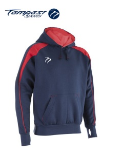 Tempest 'CK' Navy Red Hooded Sweatshirt
